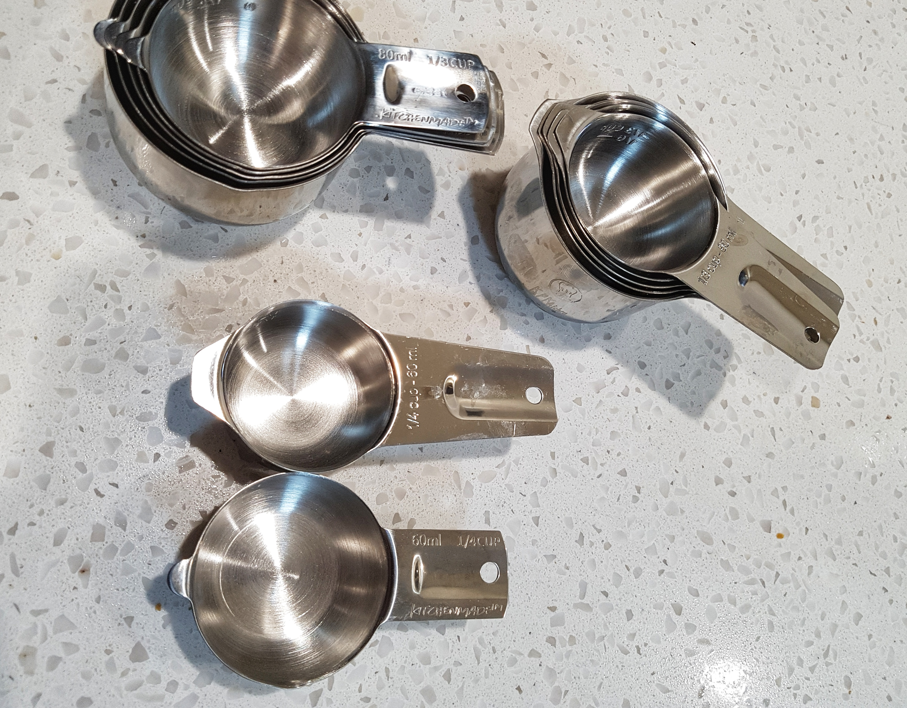 The Easy 1life Cups Compared To CookingGods With Diferent Handle Lengths