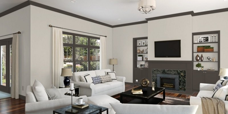 agreeable gray living room 2