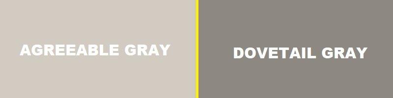 agreeable gray vs dovetail gray