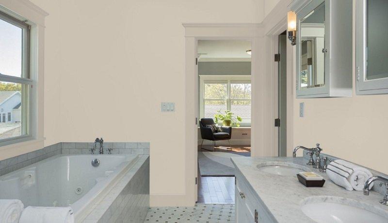 accessible beige bathroom