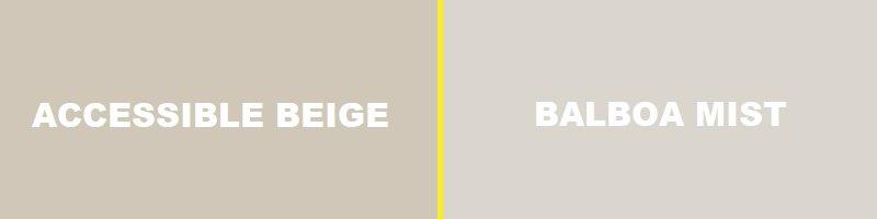 accessible beige vs balboa mist