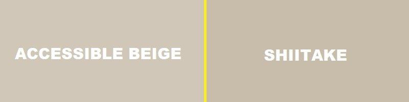 accessible beige vs shiitake