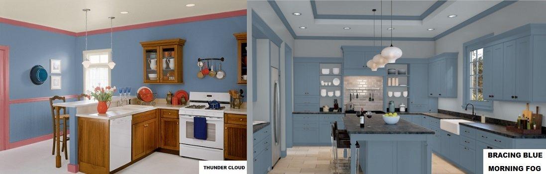 blue gray paint kitchen