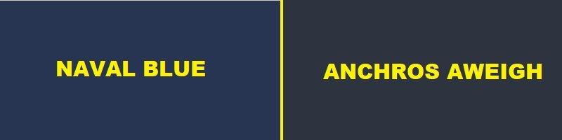 naval blue vs anchros aweigh