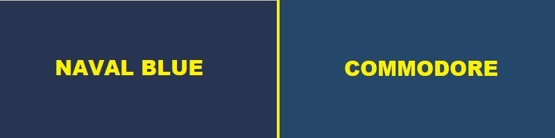 naval blue vs commodore