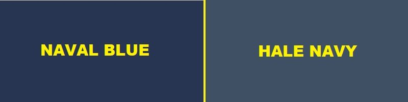 naval blue vs hale navy