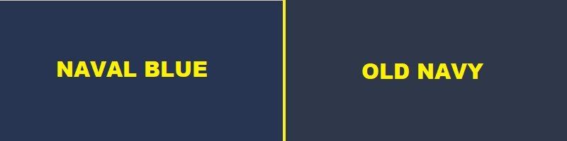 naval blue vs old navy