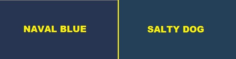 naval blue vs salty dog