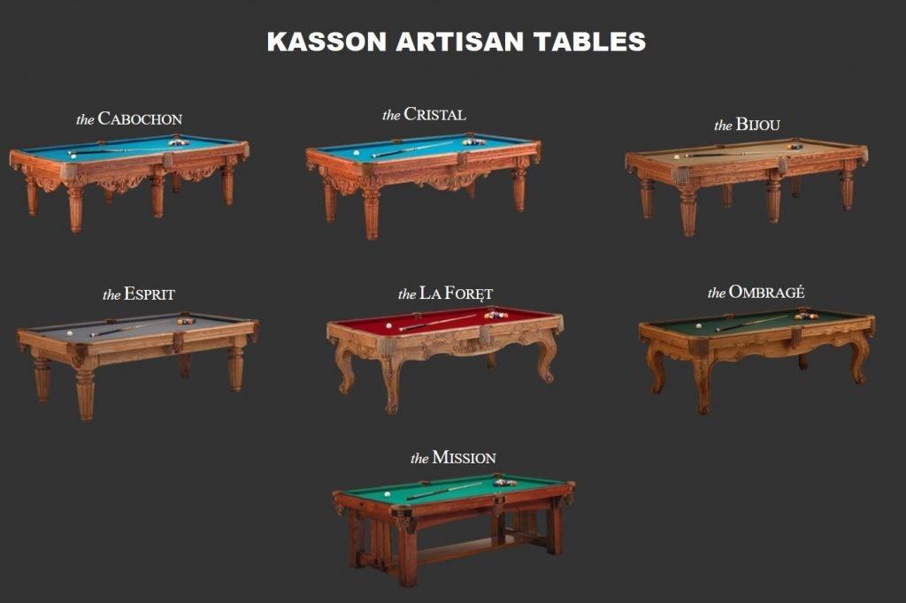 kasson artisan pool tables