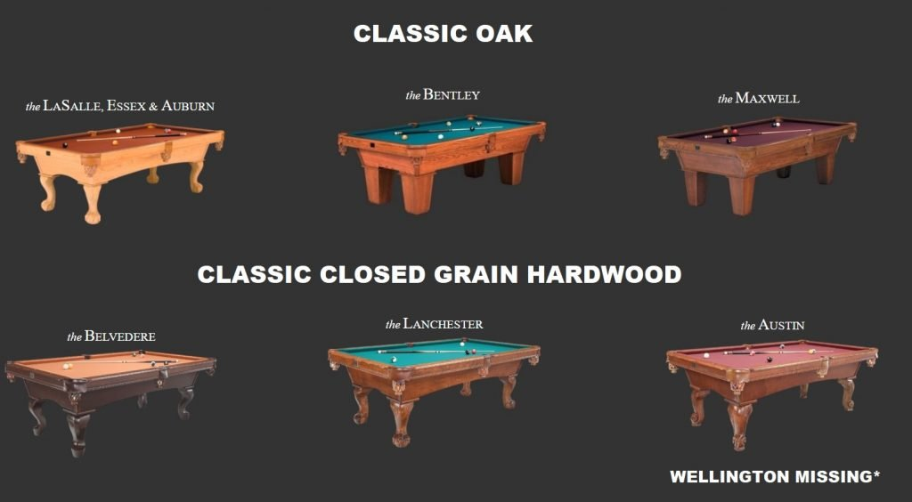 kasson classic pool tables