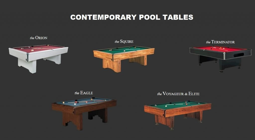 kasson contemporary pool tables