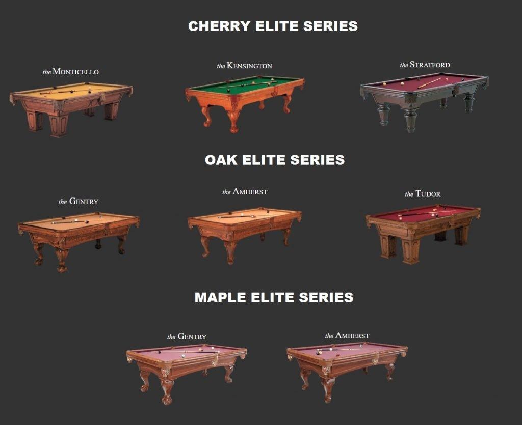 kasson elite series pool tables
