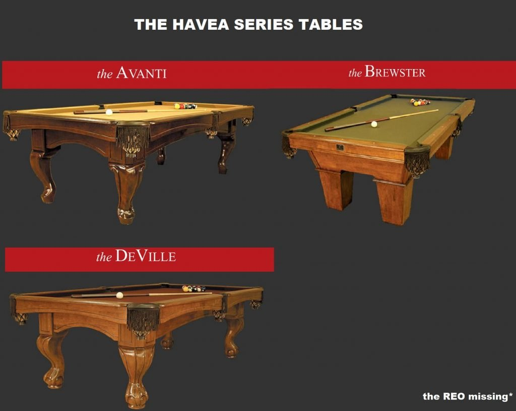 kasson havea series pool tables