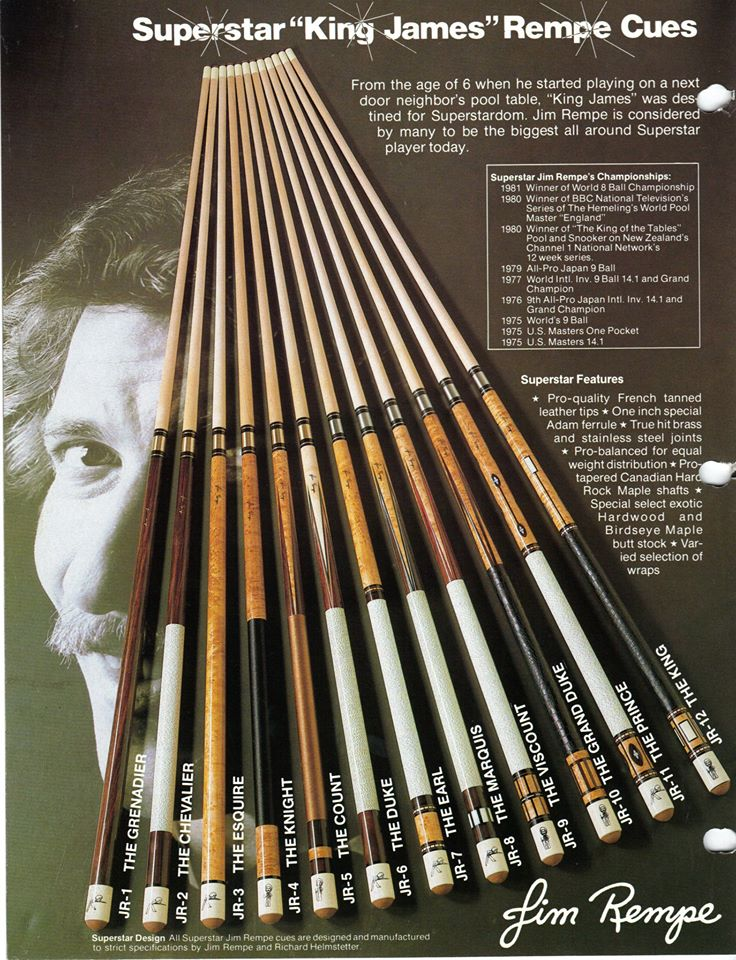 king james adam pool cues