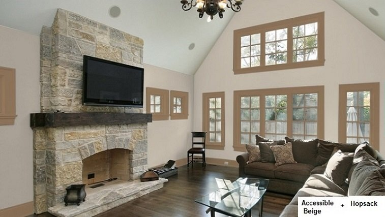 accessible beige and hopsack for living room