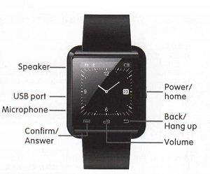 u8 bluetooth smart watch manual instructions