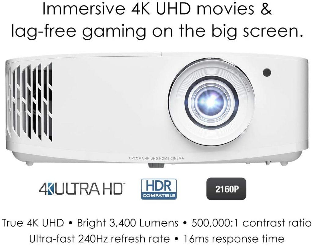 Optoma UHD50X True 4K UHD Projector for Movies & Gaming