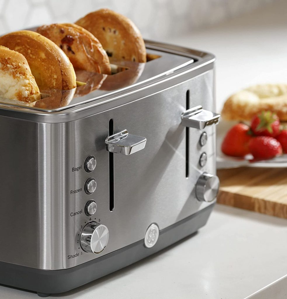 ge stainless steel toaster